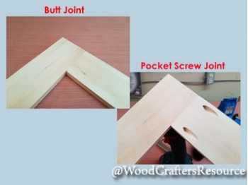 Butt joint versus pocket screw joint