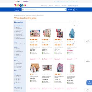 screencapture toysrus products wooden dollhouses jsp 1488373655979