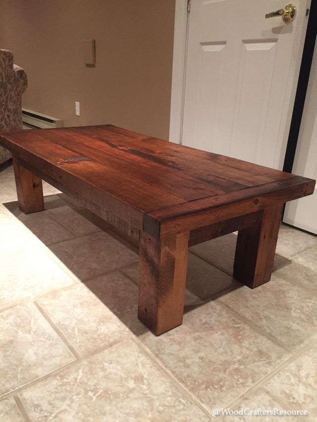 Coffee table made from reclaimed lumber for 52 table project